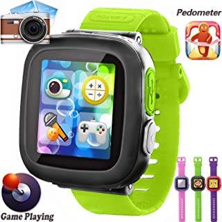 GBD Kids Game Watch, [AR Pro Edition] Boys and Girls Touch Screen Smart Watches with Games Pedometer Camera Alarm Clock Stop Watch Wrist Band Kids Electronic Learning Toys Birthday Gifts (Green)