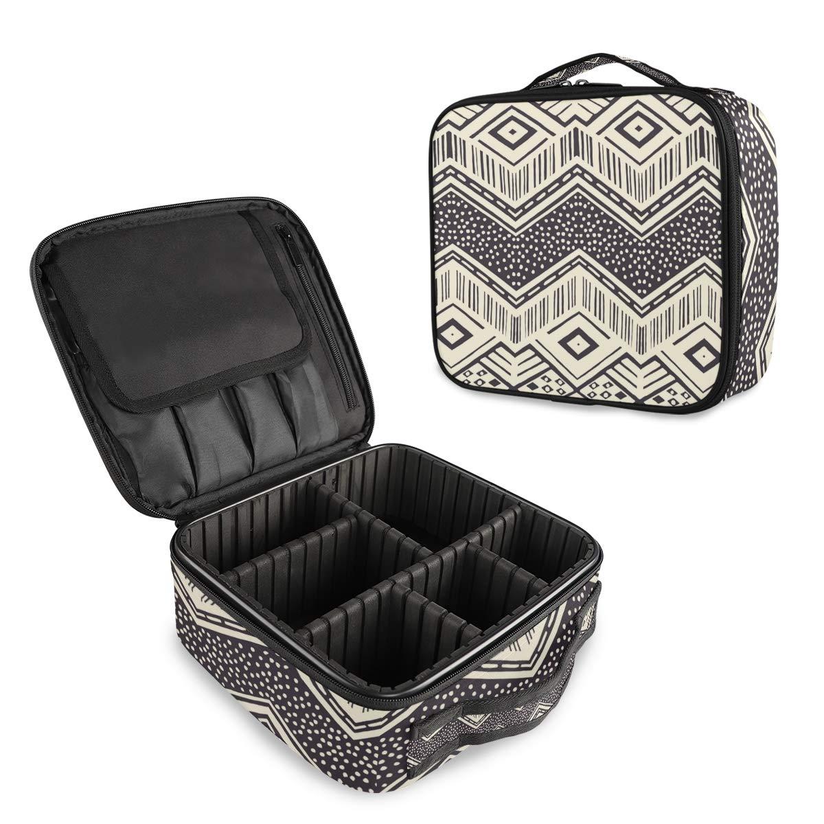 Travel Makeup Max 75% OFF Manufacturer regenerated product Case Geometric Lar Cosmetic Bag Train
