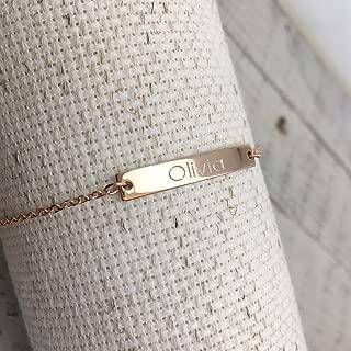 Ship Same Day til 2:00 EST,Custom Name Bar Bracelet- Engraved Bracelet,Holiday gift, Gold bracelet, Personalized jewelry,Birthday gift, Wedding, gift gift for her,name bar,Mother's day gift