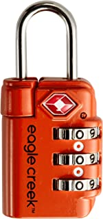 Eagle Creek Travel Safe Tsa Lock Flame Orange Lucchetto per Valigie, 6 cm, Arancione