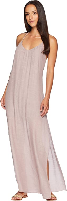 American Rose Ophelia Tie-Back Maxi Dress