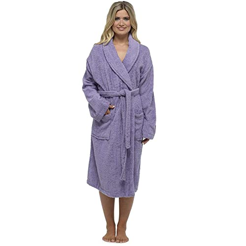 044e2b0161 Ladies Robe Luxury Terry Towelling Cotton Dressing Gown Bathrobe Highly  Absorbent Women Hooded and Shawl Towel