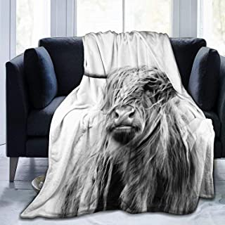 Slily Marries Portrait of a Highland Cow Throw Blankets Cozy Lightweight Decorative Blanket for Women Men and Kids