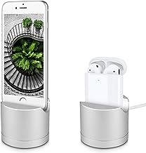 kwmobile Station de Charge Compatible avec Écouteurs Apple AirPods iPhone iPod - Support de Charge en Aluminium - Dock Chargeur - Câble Non Inclus