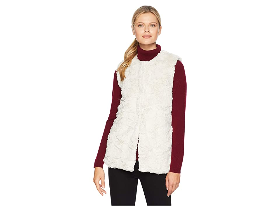 Dylan by True Grit Antique White Faux Fur Chic and Cozy Vest (Antique White) Women