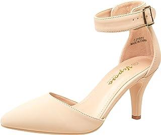 Women's Low Heels Dress Pumps 3 Inch Kitten Pointed...