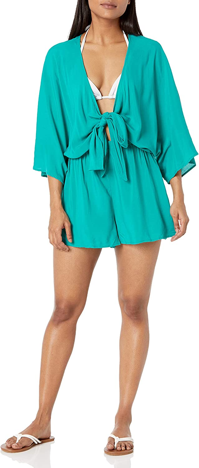 Vince Camuto Women's Standard Convertible Tie Cover Up Romper