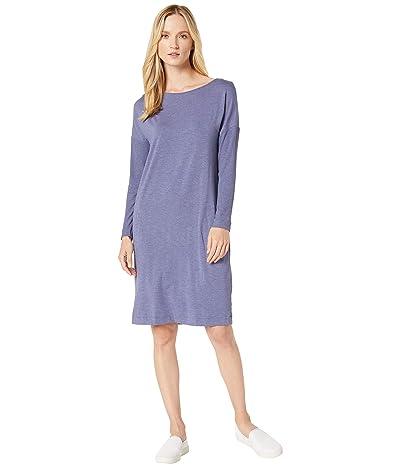 Hanro Natural Elegance Long Sleeve Gown (Ocean Melange) Women