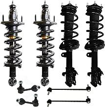Detroit Axle - 8pc Front Strut Coil Spring & Rear Shock Sway Bar Link Kit for 2007 2008 2009 2010 2011 Honda CR-V