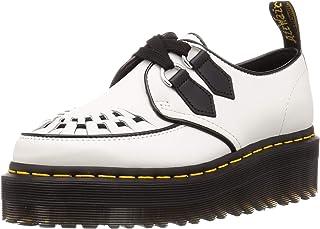 Dr. Martens Chaussure À Lacets Basse Sidney en Cuir Blanc avec, Taille UK: