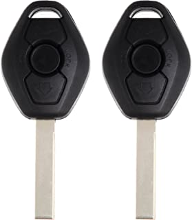 SCITOO Compatible fit for 2X New Keyless Entry Remote Control Car Uncut Key Remote Key Replacement BMW Series 315 MHz Chip