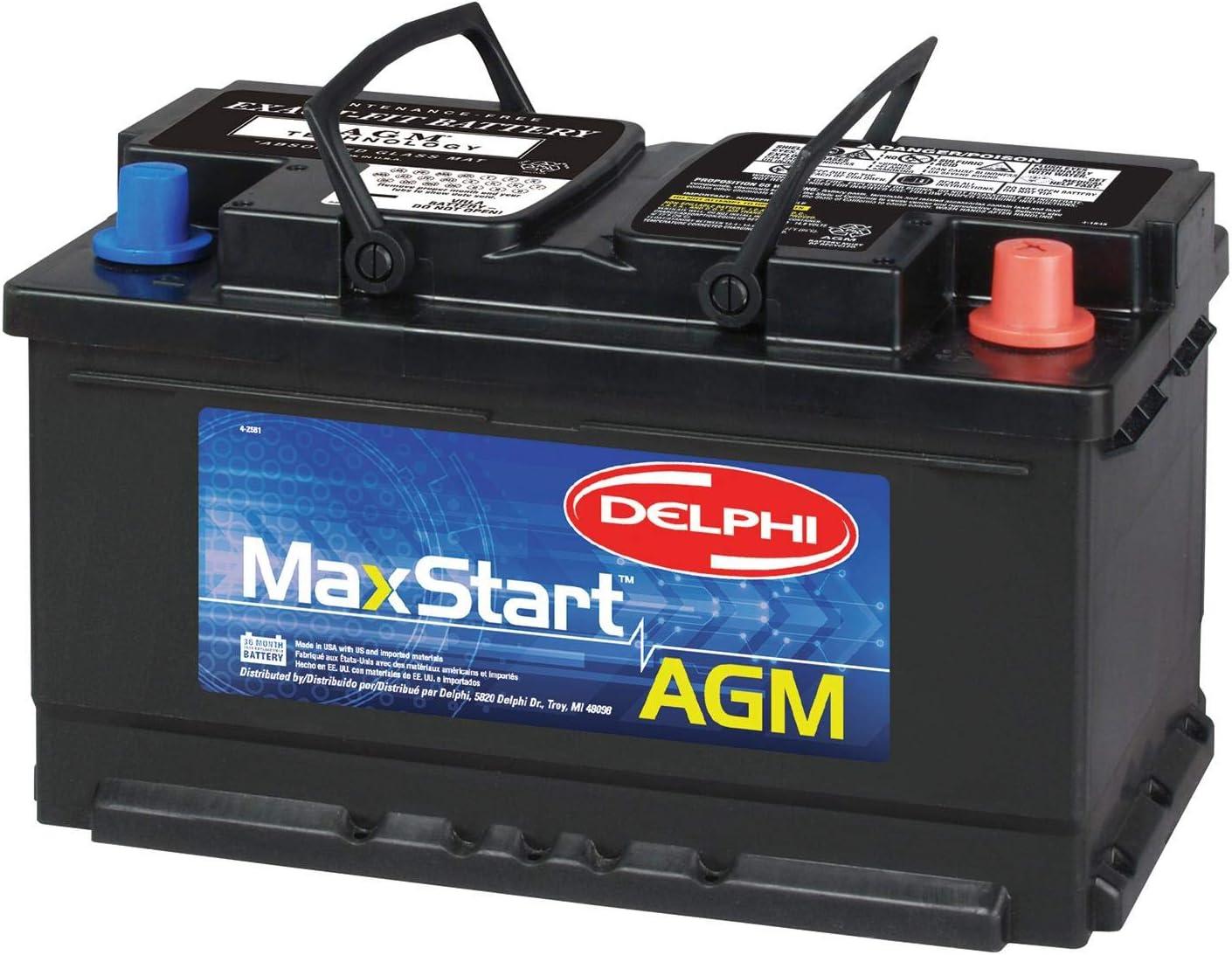 Delphi BU9094R MaxStart AGM Premium Automotive Battery, Group Size 94R...