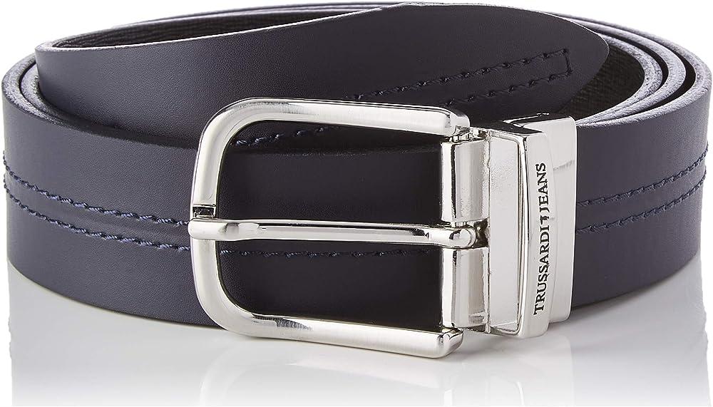Trussardi jeans affair belt, cintura per uomo,in vera pelle 71L00084-9Y099998