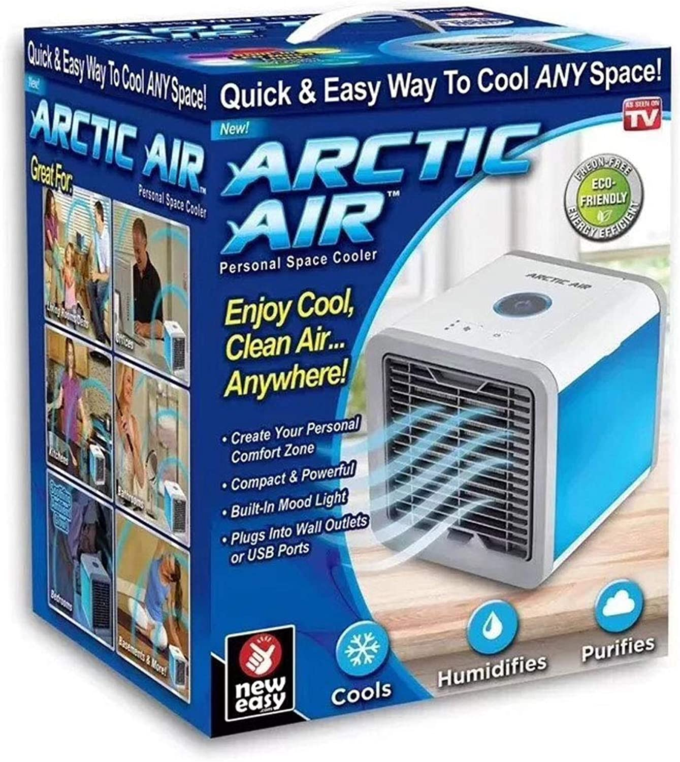 ATR Add Water Small Air Cooler, USB Power Supply Seven color Variable hot Weather Cooling Gifts.