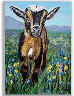 Baby Goat Art Print Pictures for Kitchen Farmhouse Wall Decor or Animals Themed Nursery, Size Mat Option