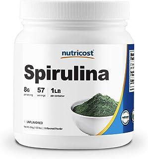 Nutricost Spirulina Powder 454 Grams (1LB) - 8000mg Per Serving, 57 Servings