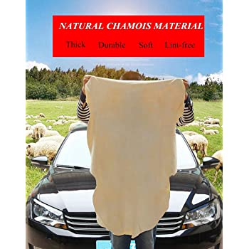 3.5 sq.ft OKAYDA Natural Car Chamois Cleaning Cloth Super Soft Shammy Towel Multifunctional Real Leather Washing Cloth Cleaning Towel Car Wipes