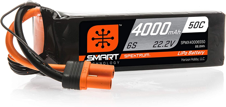 Spektrum 日本未発売 22.2V 半額 4000mAh 6S 50C LiPo Smart IC5 Battery: SPMX40006