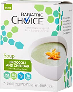Bariatric Choice High Protein Soup Mix / Low-Carb Diet Soup - Broccoli and Cheddar (7 Servings/Box) - Low C...