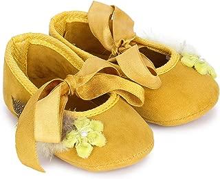 Bootie Pie Baby Girl's Feather Touch Yellow Booties-(Bpft12s) Booties-3-6 Months (16.5 EU)