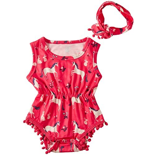 e64df79ade8191 Leapparel Newborn Toddler Baby Girl Floral Sleeveless Bodysuit Romper  Jumpsuit Outfit Set Casual Clothes with Headband