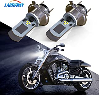 LABBYWAY 2 Pcs H4 LED Bulb Super Bright 900 Lumen Motorcycle Headlights Lamp High Low Beam Lights Used for Suzuki Kawasaki BMW Yamaha Honda,Xenon White