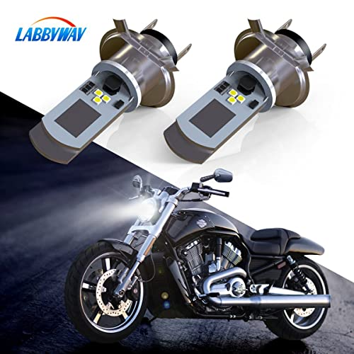 LABBYWAY 2 Pcs H4 LED Bulb Super Bright 900 Lumen Motorcycle Headlights Lamp High Low Beam