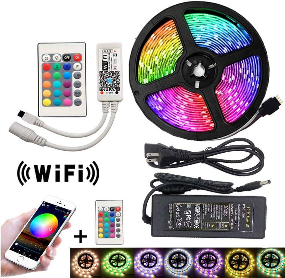 DC 12V RGB LED Arlington Mall Strip New item Light Remote Control WiFi SMD5050 Led