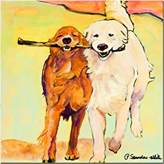 Stick With Me by Pat Saunders-White, 14x14-Inch Canvas Wall Art