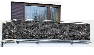 Afrastering Voor Privacyscherm Met Rotsafdruk Balkon Privacy Scherm Hek Afdekking PVC-materiaal, Waterdicht, Winddicht, Go...