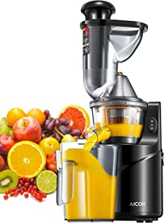 comprar comparacion Licuadora Prensado Frío, Aicok Licuadoras Para Verduras y Frutas con Boca Ancha de 75MM, extractor de zumos con Función in...