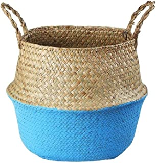 Boîte de Rangement Rotin, Bac de Rangement, Basket de rangement en osier Boîtier de rangement en rotin tissé, Paniers à fl...
