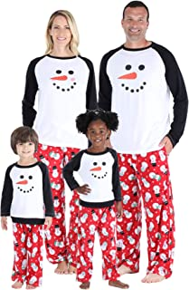 Our Family Pjs Holiday Family Matching Winter Fleece Snowman Pajama Sets