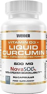 Curcumin Liquid. cúrcuma enriquecida con Vitamina D3. 90 capsulas.