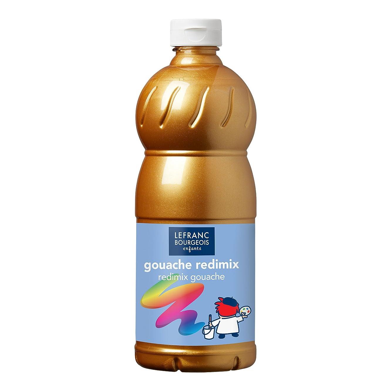 Lefranc Bourgeois Redimix Color & Co. Gouache, Gold, Tempera Kinderfarbe - 1000ml