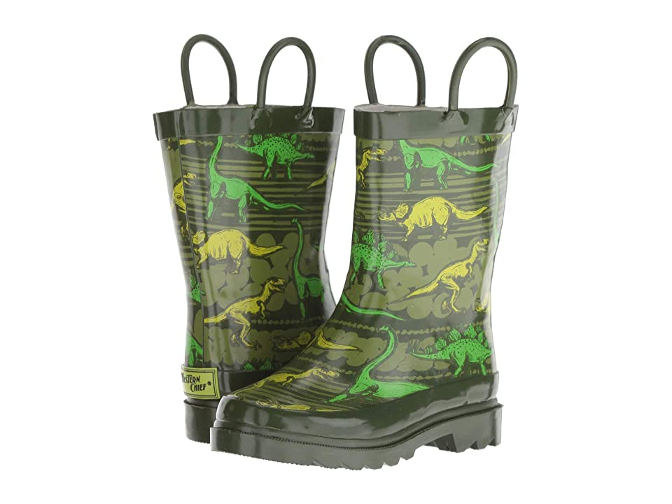 Western Chief Kids Dino Quest (Toddler/Little Kid) (Olive) Boys Shoes