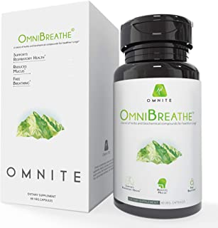 OmniBreathe Lung Cleanse & Detox Supplement by Omnite - Cleanse Lungs, Clear Mucus & Support Overall Respiratory Health - ...
