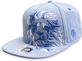 Riorex Hip hop caps Fashion Animal Embroidery Baseball Cap for Men Adjustable Leather Belt Strapback Baseball Cap