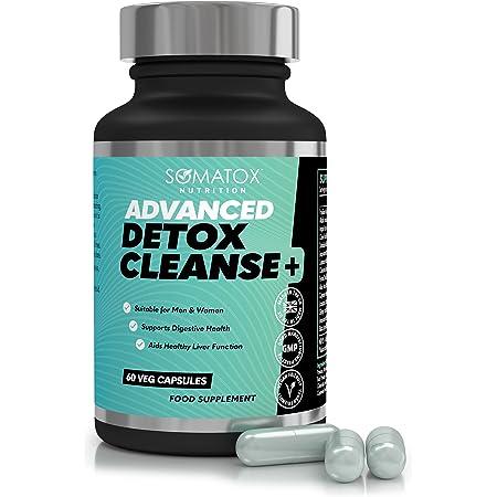 NEW ADVANCED DETOX CLEANSE ★ Max Strength Formula / 60 Vegetarian Caps 30 Day Supply ★ UK & GMP Cert