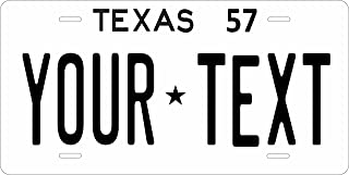 Texas 1957 Personalized Tag Vehicle Car Moped Bike Bicycle Motorcycle Auto License Plate