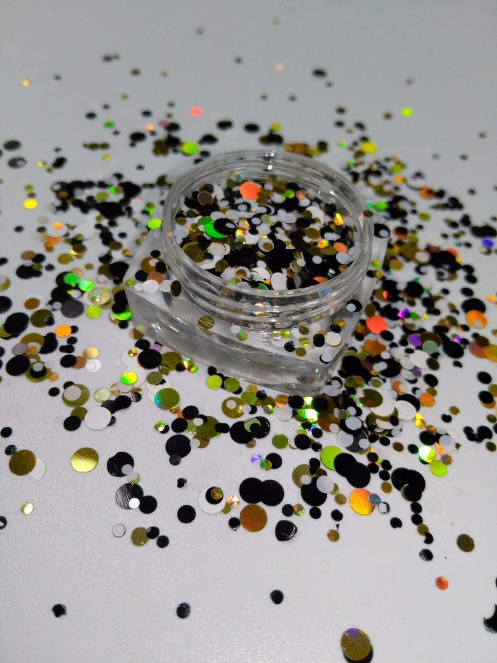 Max 54% OFF Gabcus YM-006 1 2 3MM Glitter Round Spangle Super Special SALE held Shap Mix