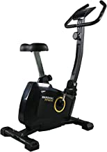 Marshal Fitness Magnetic Resistance Upright Exercise Bike with Eight Preset Resistance Levels for Cardio Workout and Stren...
