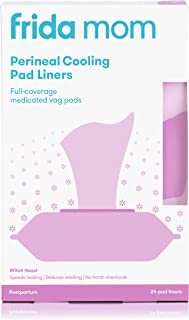 Frida Mom Perineal Medicated Witch Hazel Full-Length Cooling Pad Liners for Postpartum Care | 24-Count