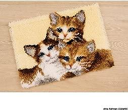 Vervaco Three Kittens Latch Hook Rug Kit, Multi-Colour