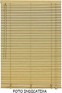 MEDIA WAVE store 007774 Tenda da Sole Veneziana Beige 120 x 160 cm per Interno in PVC