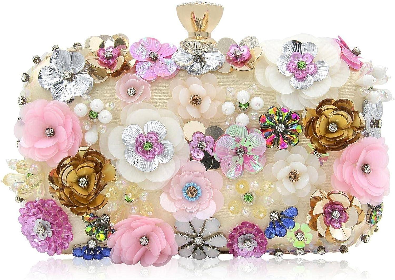 NC Flower Evening Bag Fashion Diamond Evening Bag Ladies Clutch Dress Bag