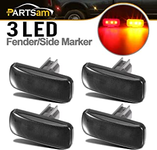 DNA MOTORING FENDL-DRAM02-CH 4Pcs Clear Lens Dually Fender LED Side Marker Light Lamps