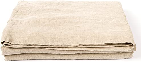 LinenMe 0299105 90 X 102 Stone Washed Bed Linen Flat Sheet, Standard, Natural