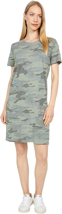 Camo Chic-Slub Knit Crew T-Dress