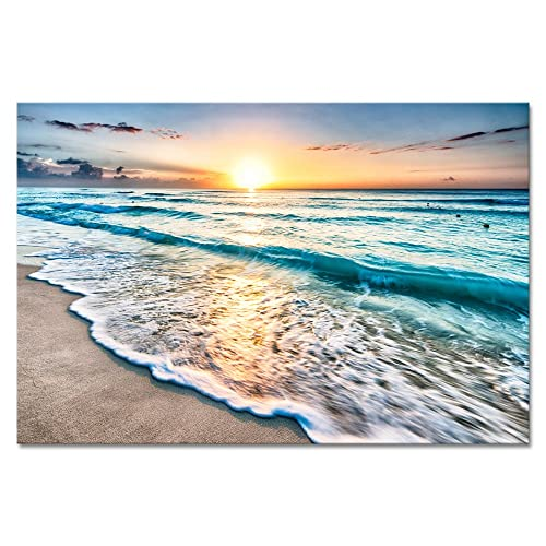 Wieco Art Sea Waves Large Canvas Prints Wall Ocean Beach Pictures Paintings Ready To Hang